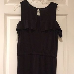 Girls cold shoulder ruffle jumpsuit